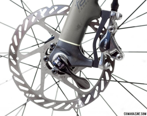 SRAM RED 22 and S-700 hydraulic disc brake and rim brake recall. © Cyclocross Magazine