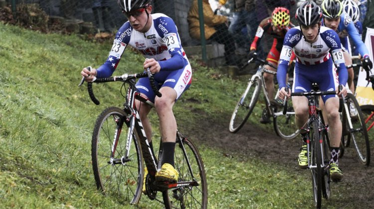 Garret Gerchard leads fellow American Cooper Willsey at the 2013