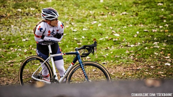 Katie Compton wondering if the IsoSpeed decoupler will be the key to toppling Mariane Vos this year. photo: Trek