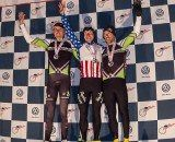 Elite Men Podium: L to R Trebon, Powers, Johnson. © Matt Lasala