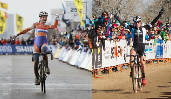 Vos winning her sixth World Championship, Compton winning her 10th National Championship. © Nathan Hofferber / Mike Albright