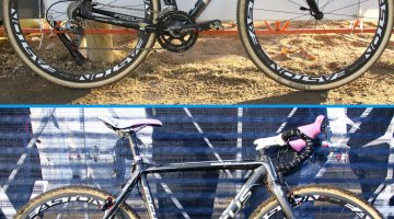 Jeremy Powers' National Championship-Winning Focus Mares Carbon Cyclocross Bke - 2014 (top) and 2012 (bottom)