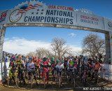 The start of the 13-14 Junior race. © Mike Albright