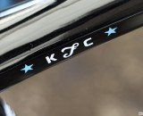 Katie Compton's Trek Boone 9 cyclocross bike with her own kFc logo. © Cyclocross Magazine