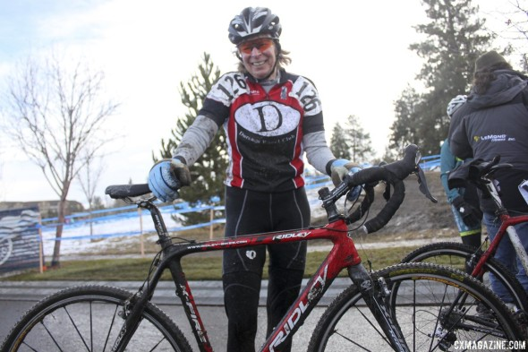2010 60-64 National Champion Martha Iverson and her Ridley X-fire cyclocross bike.  © Cyclocross Magazine