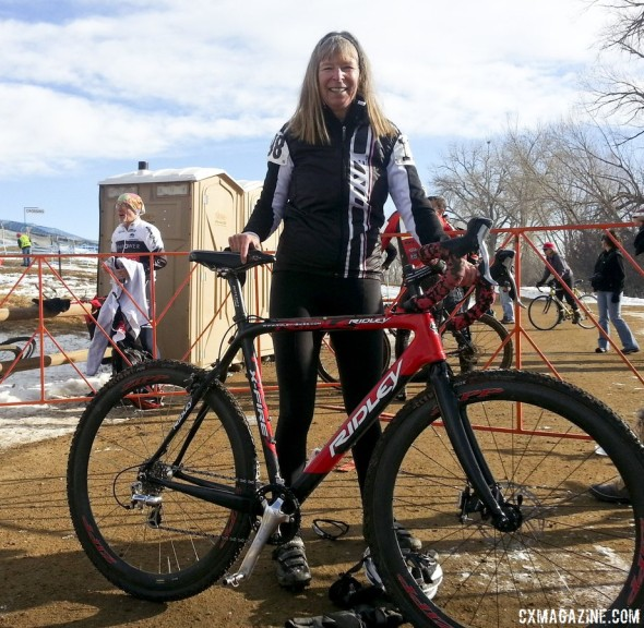 Martha Iverson raced the 2014 National Championships on the same bike as 2010, but this year added with a disc brake on the front. © Cyclocross Magazine