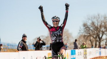 Sunni Gilbert takes the win in the Masters Women 35-39, 2014 Cyclocross National Championships. ©