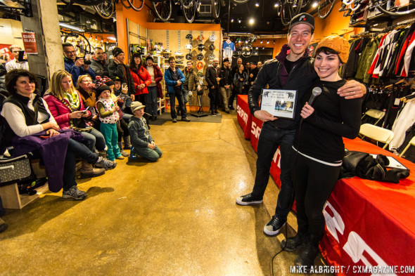 Jeremy Powers gets inducted into the Wooly Mammoth Society. © Mike Albright