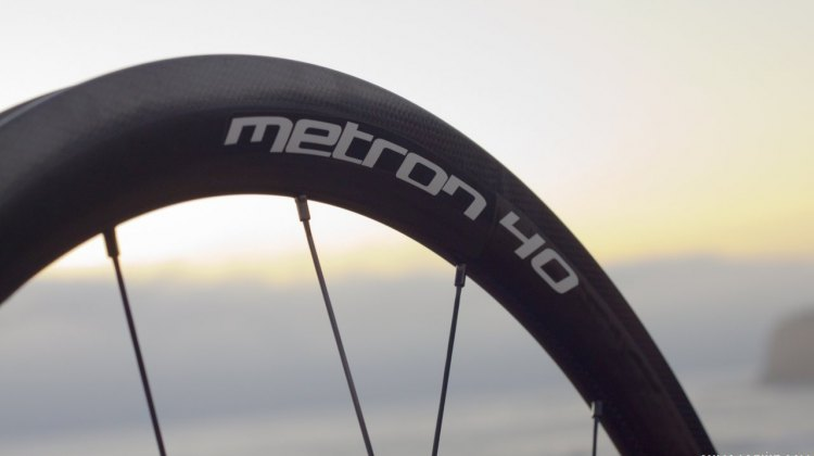 Vision Tech's Metron 40 carbon tubular wheels. © Cyclocross Magazine