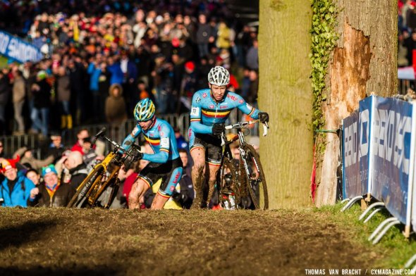 Would it be Belgian dominance again Logan Owen on the runup at U23 UCI Cyclocross World Championships 2014? © Thomas Van Bracht