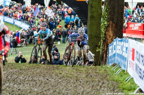 American fighting for a place among Belgians at Junior UCI Cyclocross World Championships - Hoogerheide. © Thomas Van Bracht