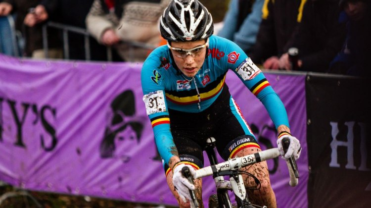 Sanne Cant at UCI Cyclocross World Championships 2014 Elite Women. © Thomas van Bracht