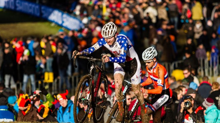 Logan Owen at the Cyclocross World Championships in Hoogerheide. © Thomas Van Bracht