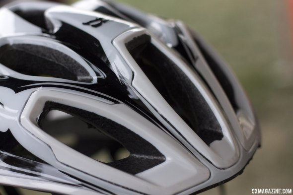 Kali Protectives' top-of-the-line $189 Maraka helmet, with SuperVent and Composite Fusion Plus technology, Winter Press Camp. © Cyclocross Magazine