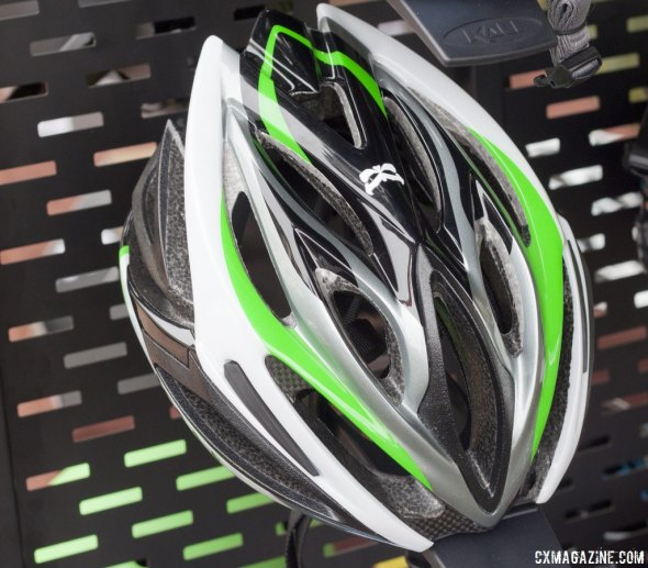 Kali Protectives mid-range Phenom helmet, at $159, adds SuperVent technology and a dial for fit. Winter Press Camp. © Cyclocross Magazine