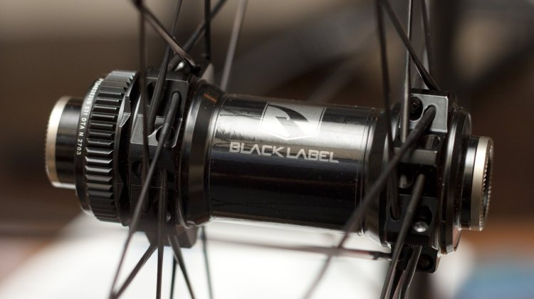 Reynolds Cycling is launching their new BlackLabel mountain wheels, with DT Swiss 240S Centerlock hubs, but should work well for tubeless cylcocross racing. Winter Press Camp 2014. © Cyclocross Magazine