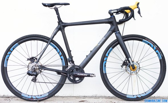 Calfee Design's Manta CX Prototype as ridden by CXM, and to be shown at NAHBS. © Cyclocross Magazine