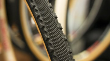 Challenge Tires showed off this huge, 36mm, Chicane-like gravel prototype tire at Frost Bike 2014. © Cyclocross Magazine
