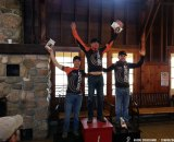 The podium at the Lowell 50. © Aaron Cruikshank