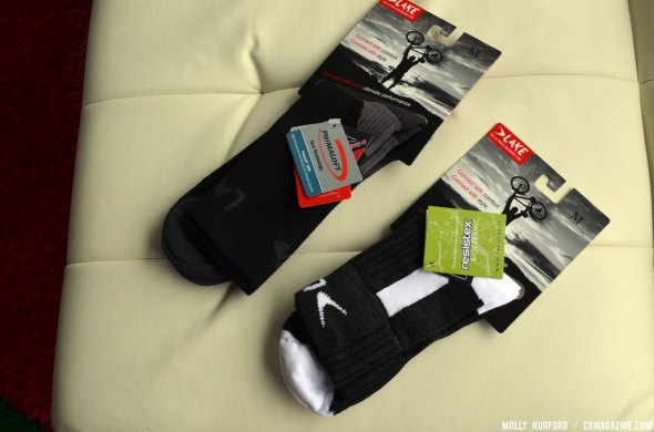 Lake now has a full foot system from sock to insole to shoe. © Cyclocross Magazine