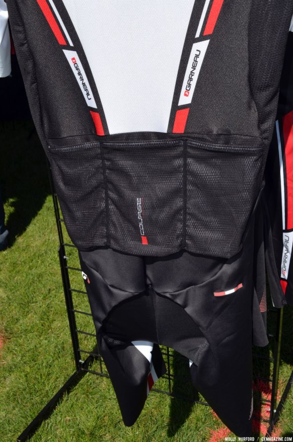 The new Course skinsuit from Louis Garneau at Sea Otter 2014. © Cyclocross Magazine