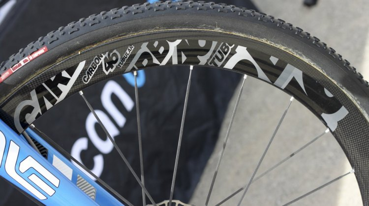 44mm deep, 23mm wide carbon tubulars are raced by the American Classic sponsored racers at UCI events. © Cyclocross Magazine