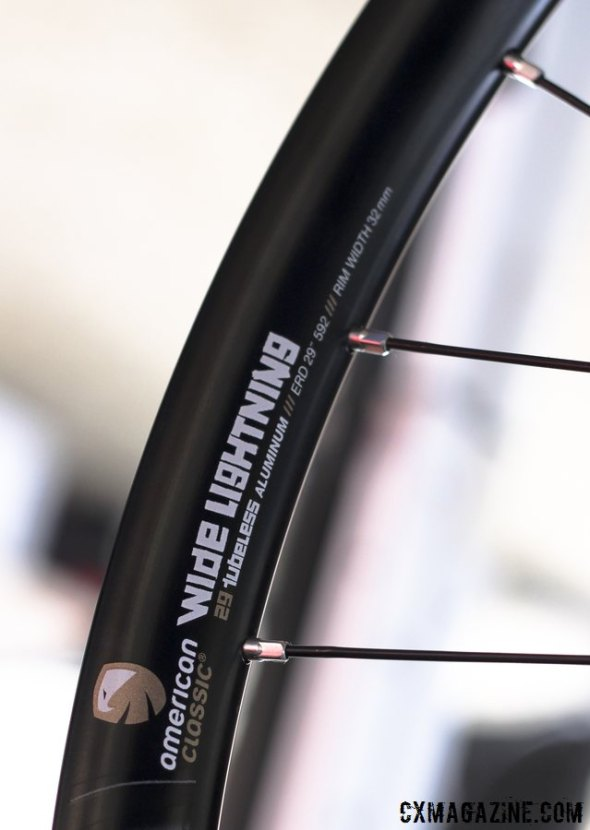 Wide Lightning is 29mm wide (internal), adding volume to cx tires. These might be the hot ticket for tubeless cyclocross racers not lining up for UCI races.  © Cyclocross Magazine