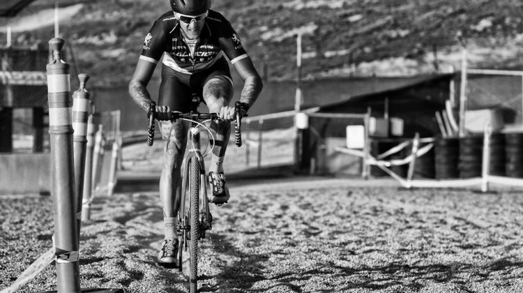 Berden makes his way through the sand during cyclocross at Sea Otter. © Mike Albright