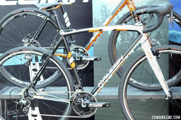 Raleigh's 2015 RX 1.0 is the sleeper value, with SRAM Rival and Force, Tektro cantis and an FSA Gossamer crank, for around $1550. © Cyclocross Magazine