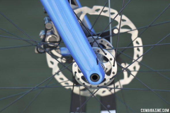 Raleigh's new 2015 RXC Disc and RXC Pro Disc cyclocross bikes prioritize stiffness over quick wheel changes. © Cyclocross Magazine