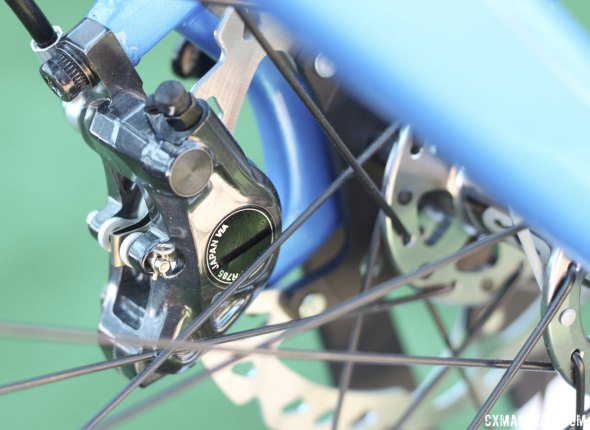 Shimano's R785 hydraulic calipers handle stopping duties but don't be surprised if yours gets the RS785 version. © Cyclocross Magazine