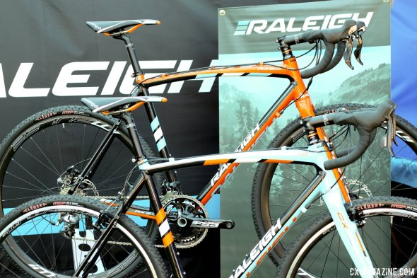Raleigh's 2014 RX 2.0 won our Editors' Choice Award for best affordable bike, and moves to Clement tires and TRP Spyre brakes. © Cyclocross Magazine