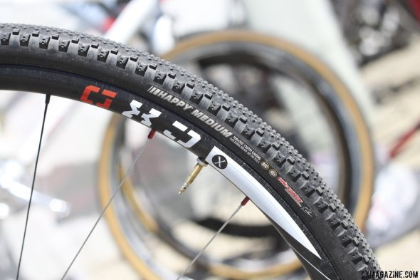 The Redline team has switched from Challenge to Kenda tires for 2014, and Lindine may race tubeless on his Novatec wheels. © Cyclocross Magazine