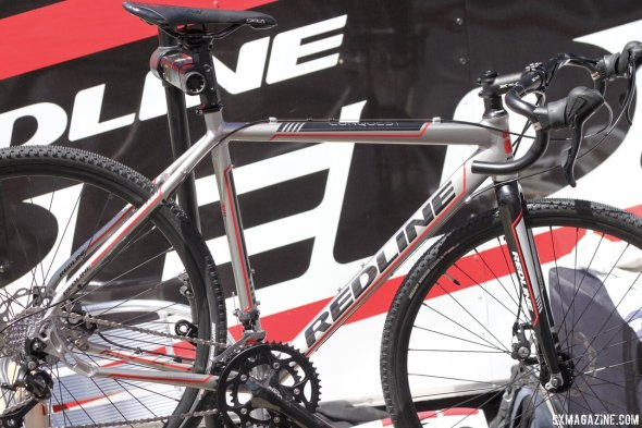 The new 2015 alloy Conquest from Redline at Sea Otter 2014. © Cyclocross Magazine