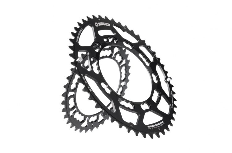 Rotor Q-rings—an ovalized chainring that's intended to work best with your power. Courtesy of Rotor