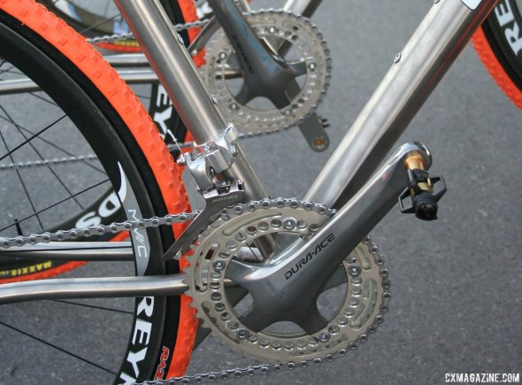 Rotor's Q-Rings have been around for a while, shown here on the Litespeed Maxxis team bikes in 2009. © Cyclocross Magazine