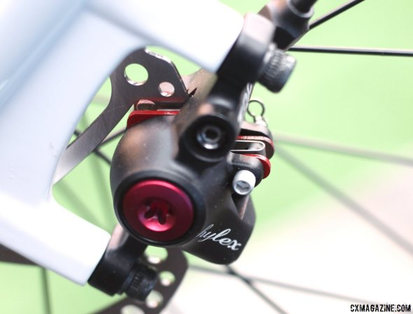 TRP's Hylex hydraulic disc brakes on the RXS are powerful, simple and come with amazing levers. © Cyclocross Magazine