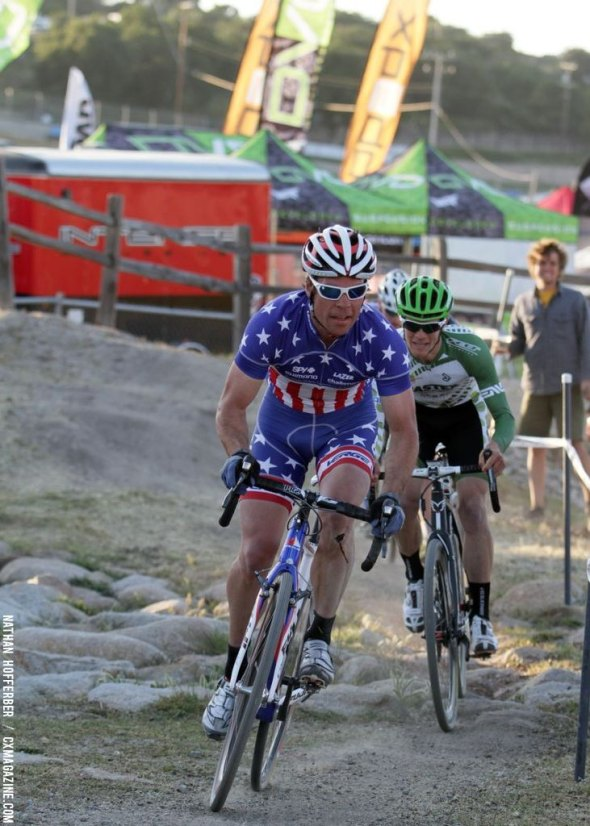 Jonathan Page at the 2013 Sea Otter Classic cyclocross race. © Nathan Hofferber