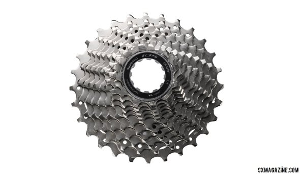 Shimano's new 105 5800 11-speed group features three cassettes: 12-25, 11-28 and 11-32t.