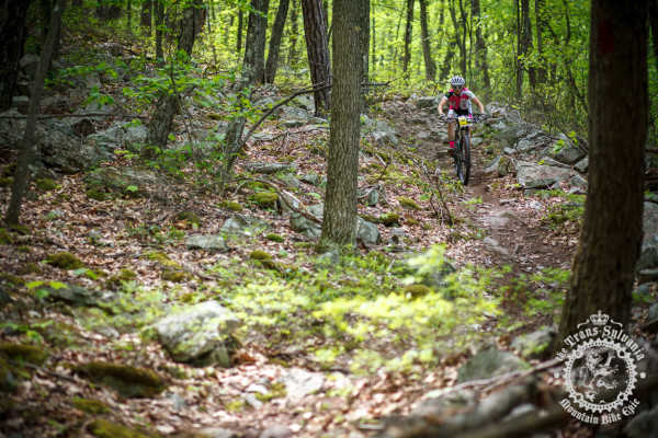 Vicki Barclay descends through the switchback sections at the top of Wildcat Gap