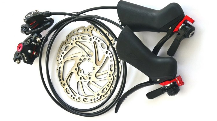 TRP's Hylex hydraulic brake levers paired with Gavenalle's shifters.