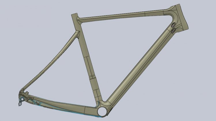 The new carbon frame from Van Dessel.