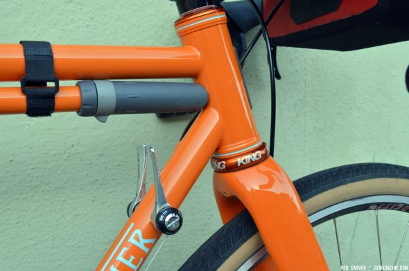 The oversized headtube was designed specifically for the Enve CX disc fork. © Robert Carver