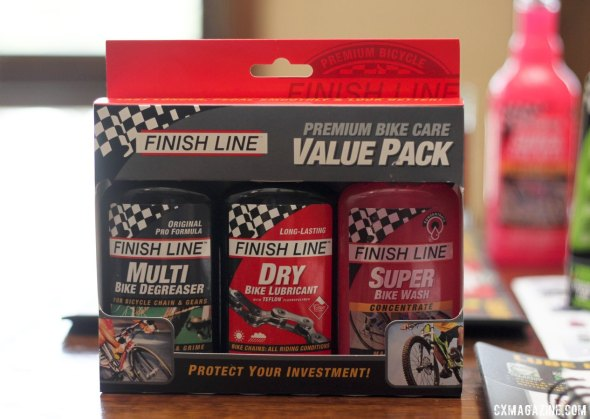 The new $16.99 Finish Line Premium Bike Care Value Pack brings the three most versatile products for a cyclocrosser into one cost-savings pack. © Cyclocross Magazine