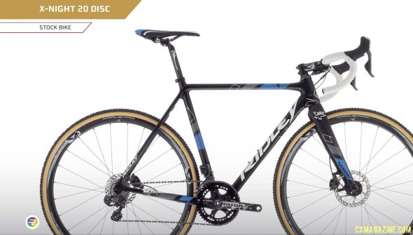 2015 Ridley X-Night 20 Disc features hydraulic disc brakes and 4ZA Cirrus Pro tubular wheels.