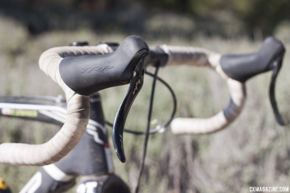 TRP's awesome Hylex hydraulic singlespeed brake system kept braking powerful with a light touch. © Cyclocross Magazine