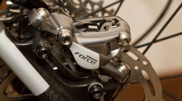 SRAM's new Force 22 HRD hydraulic disc brake calipers. © Cyclocross Magazine
