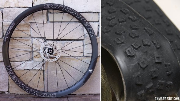 For July only, the Assault SLG Disc will come with free Hutchinson TORO CX tubular tires, tread shown above on a clincher model