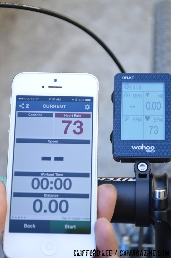 The Wahoo Fitness RFLKT computer pairs up with Smartphones