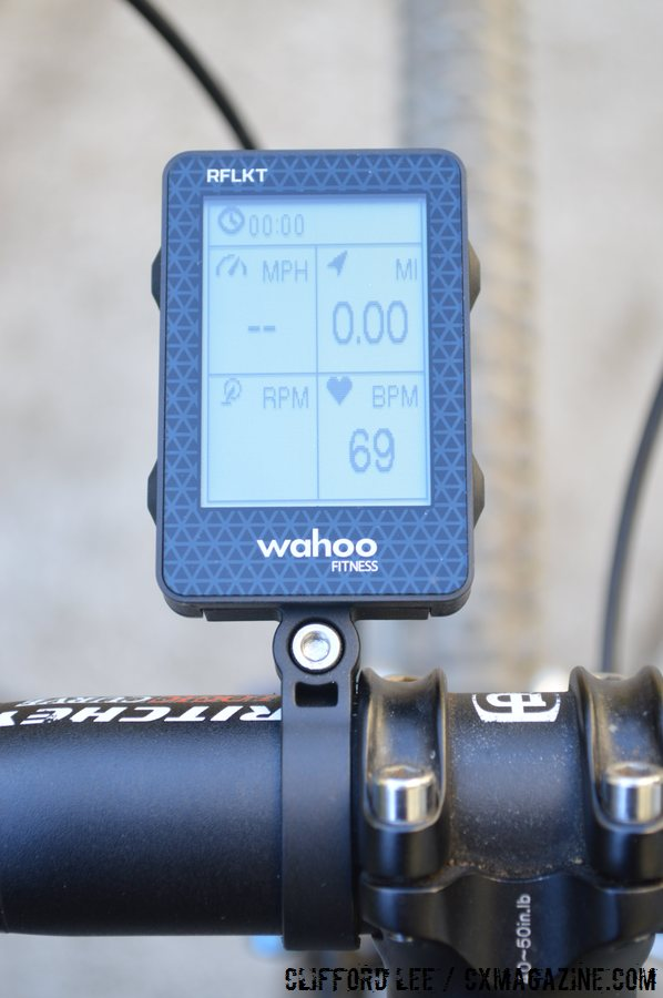 The Wahoo Fitness RFLKT is just large enough to display the views, although power is not a displayed option
